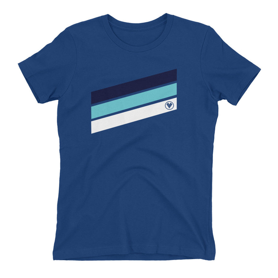 Women's Venture Pro Stripe 100% Cotton - Find Your Coast Apparel