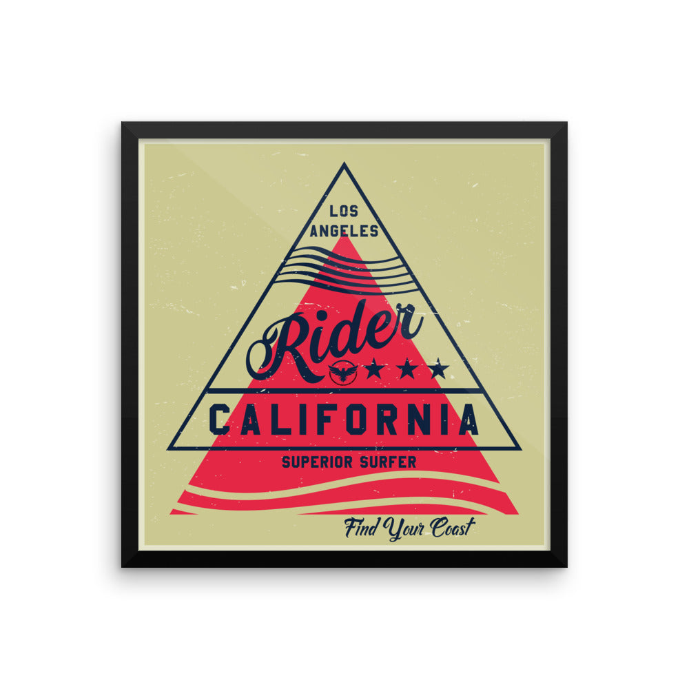 Rider Framed Art Print - Find Your Coast Supply Co.