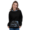 Women's Coast Camo Black Long Sleeve Hoodie w/Kangaroo Pocket (unisex fit) - Find Your Coast Supply Co.