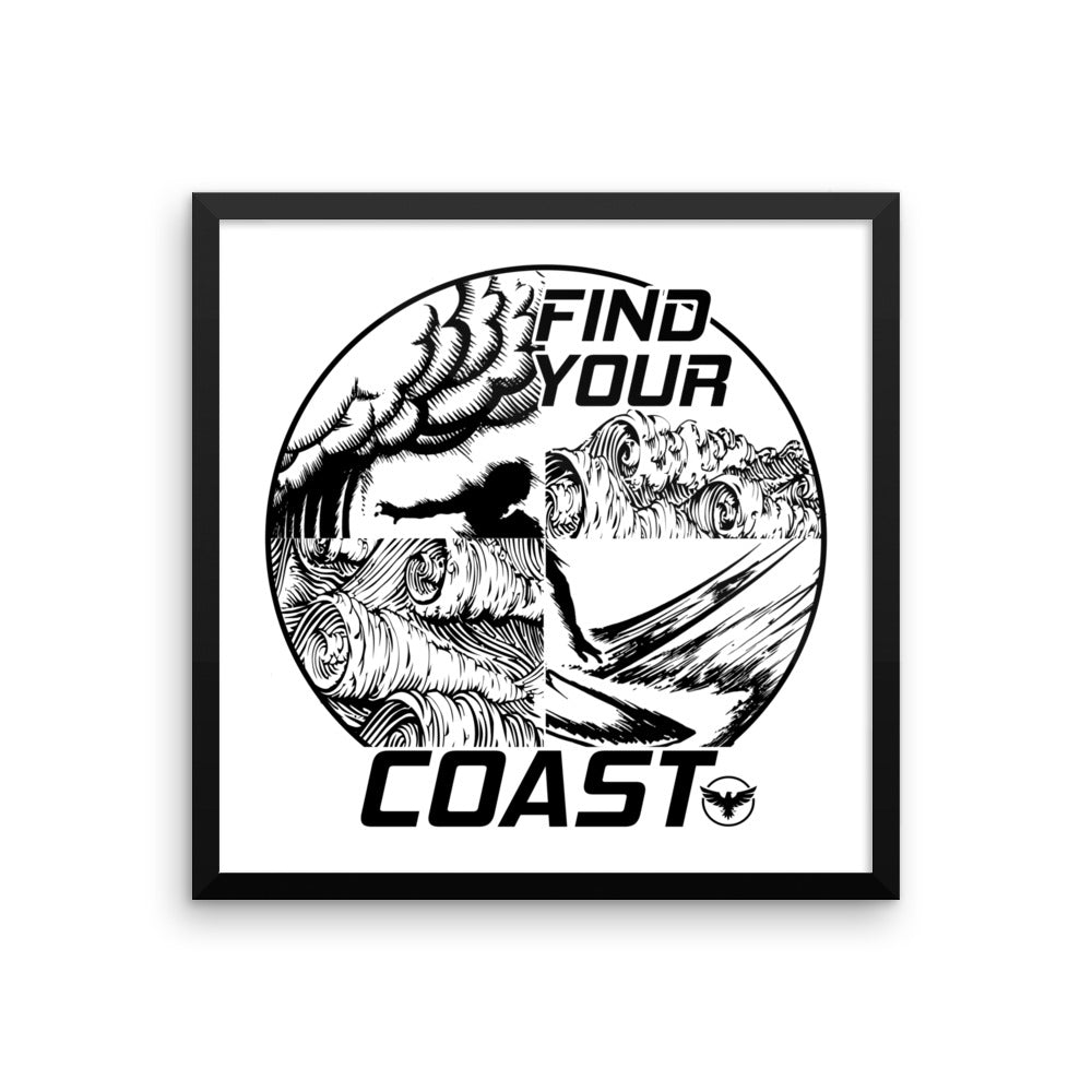 Hiptitude Framed Art Poster - Find Your Coast Supply Co.