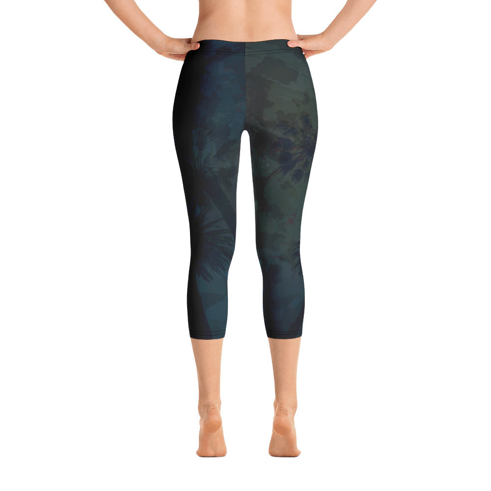 Women's O.U.R. Outdoors Black Camo All Day Comfort Capri Leggings - Find Your Coast Supply Co.