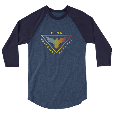 Men's 3/4 Sleeve Triad Raglan Shirt - Find Your Coast Brand