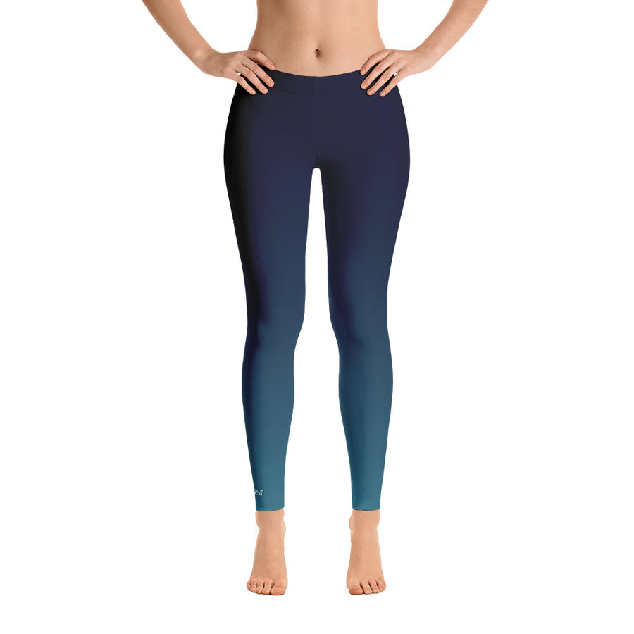 All Day Comfort Blue Coast Full Length Leggings - Find Your Coast Brand