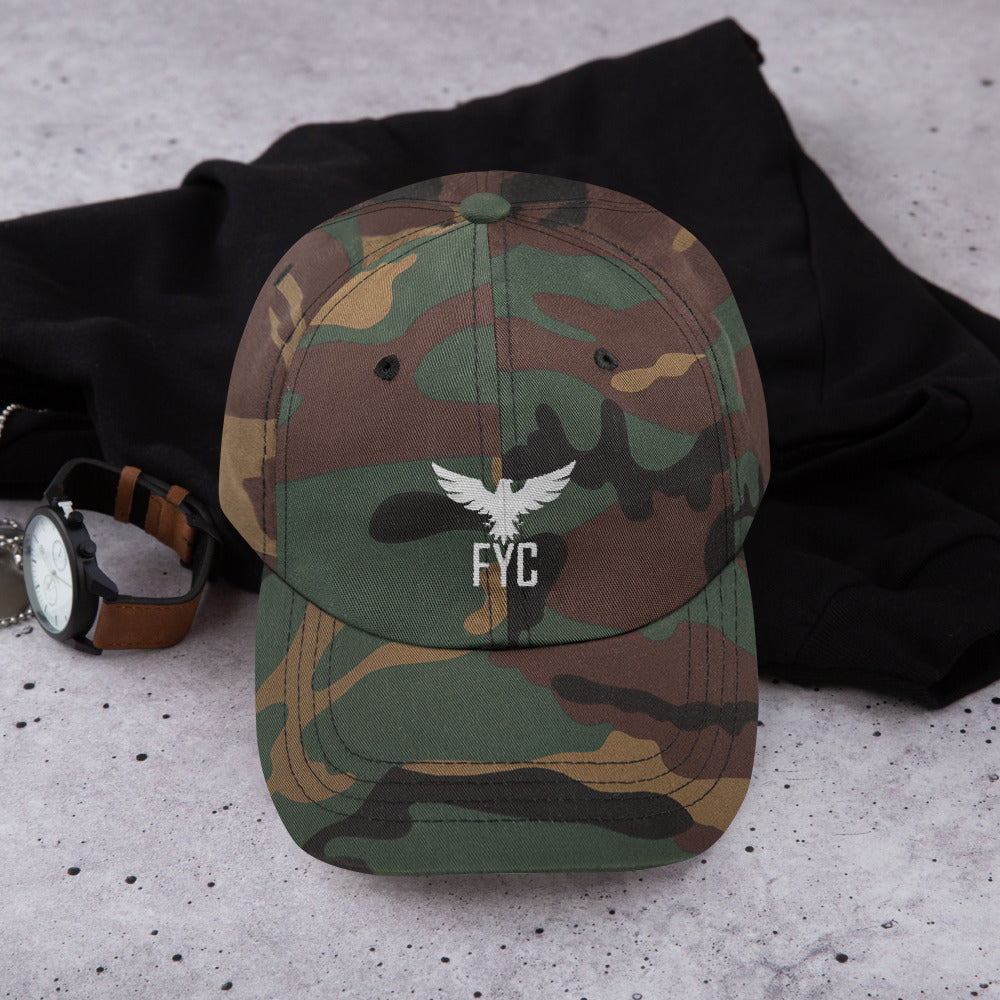 Find Your Coast Adjustable Chino Twill Cap (Camo & Black) - Find Your Coast Brand