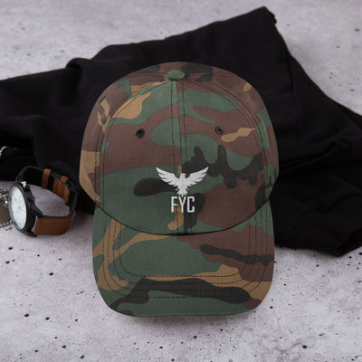FYC Unstructured Sport Adjustable Hat (Camo & Black) - Find Your Coast Supply Co.