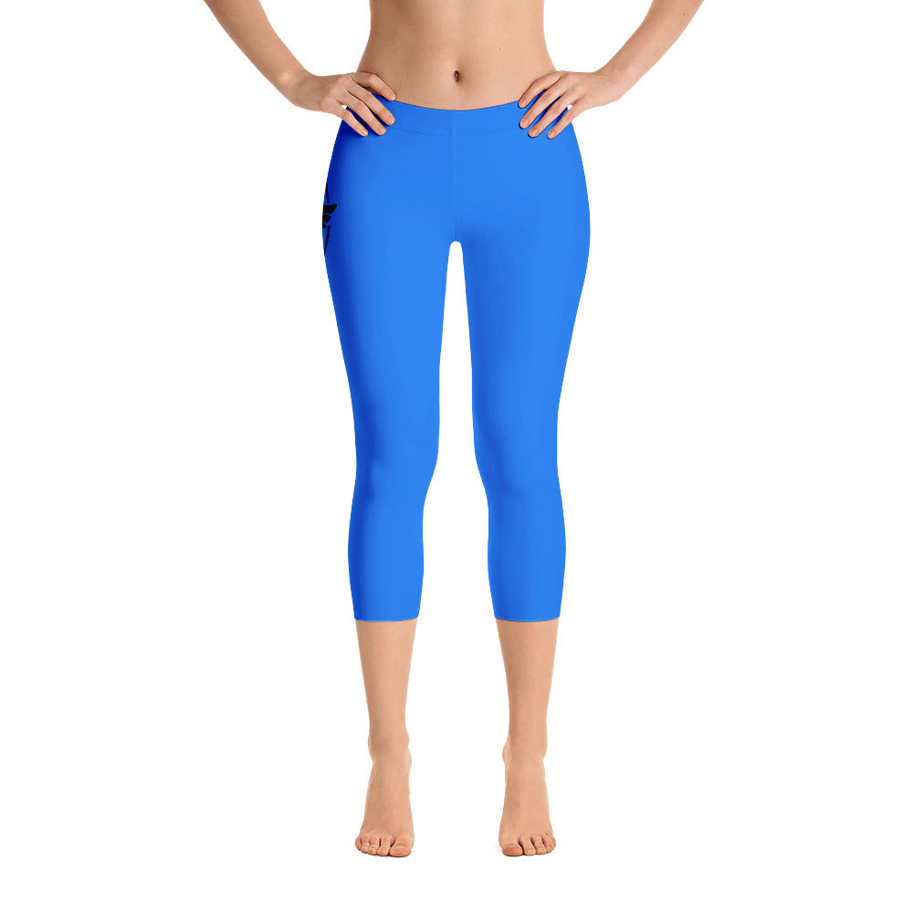 Women's All Day Comfort Capri Leggings Pacific Supply II Light Blue - Find Your Coast Supply Co.