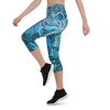Women's All Day Comfort ALOHA Camo Capri Leggings