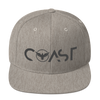 Find Your Coast Premium Adjustable Heather Grey Snapback Hat - Find Your Coast Supply Co.