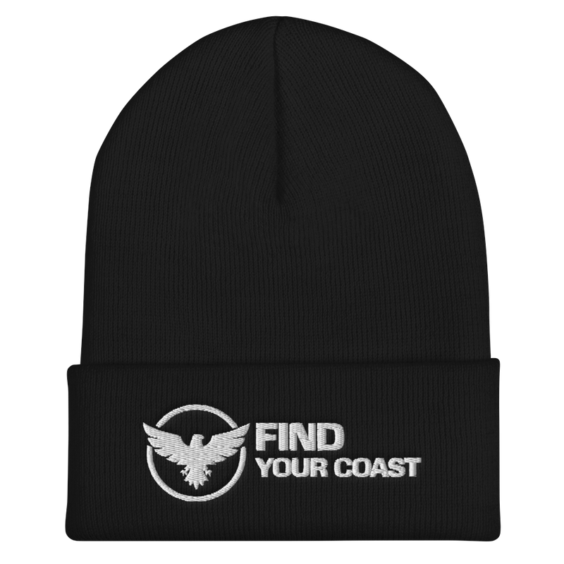 Find Your Coast Cuffed Form Fitting Beanie