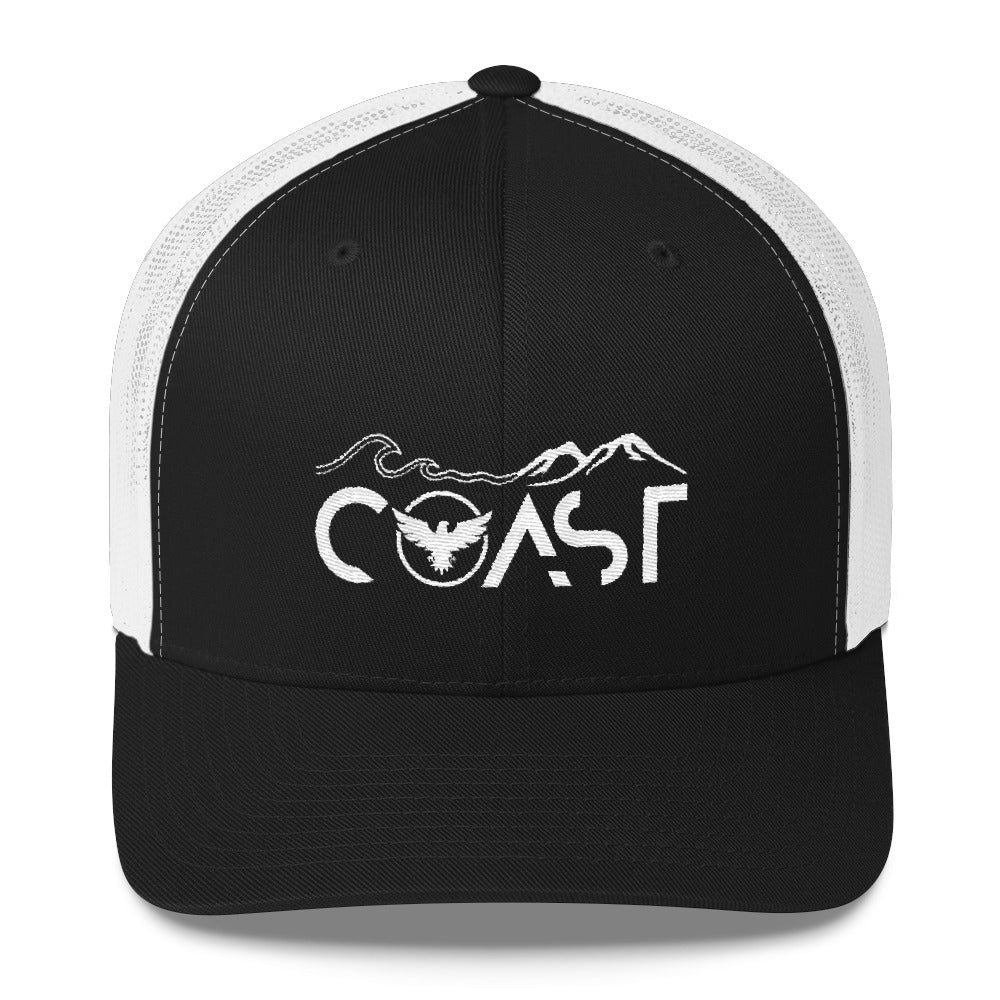 Mountains to Coast Mid-Profile Trucker Hat - Find Your Coast Supply Co.