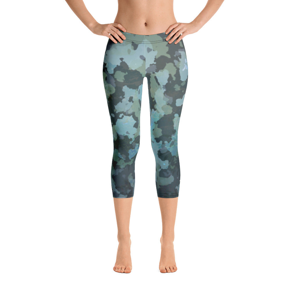 Women's O.U.R. Outdoors Ocean Camo All Day Comfort Capri Leggings - Find Your Coast Supply Co.