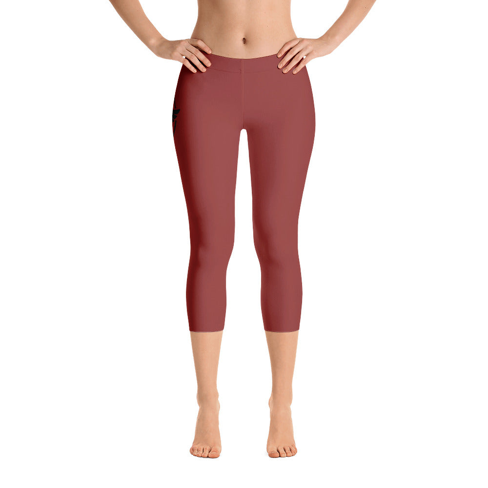Women's All Day Comfort Capri Leggings Pacific Supply II Brick - Find Your Coast Supply Co.