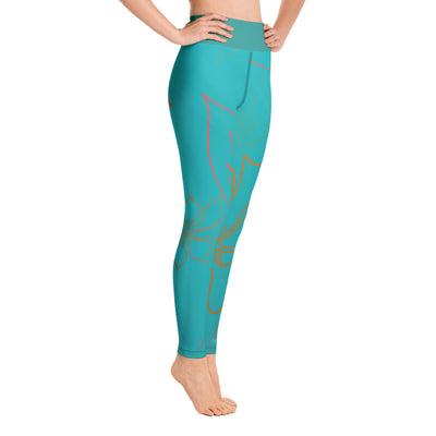 Women's Active Comfort Sport Aloha Full Length Leggings - Find Your Coast Supply Co.