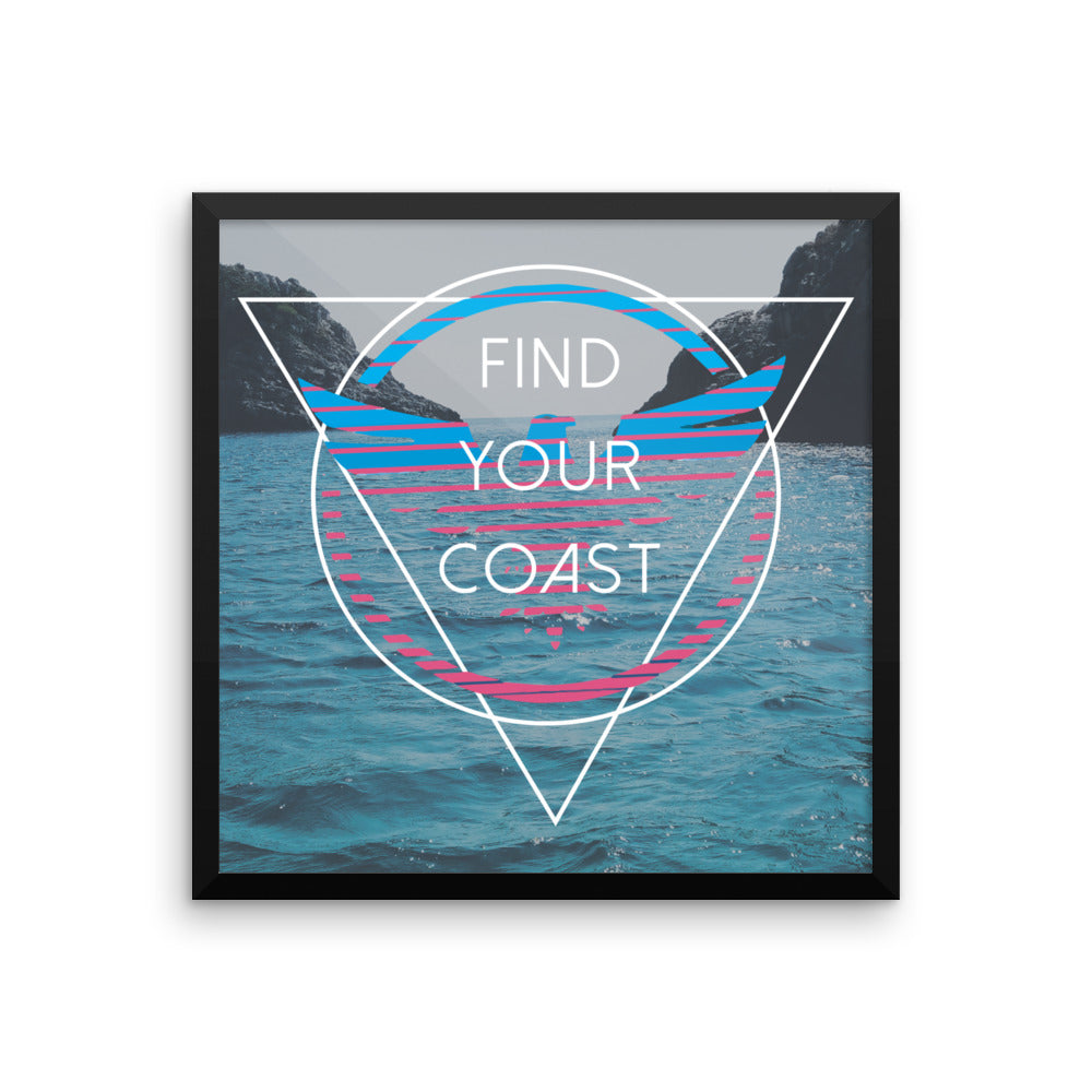 Moderna Framed Art Print - Find Your Coast Brand