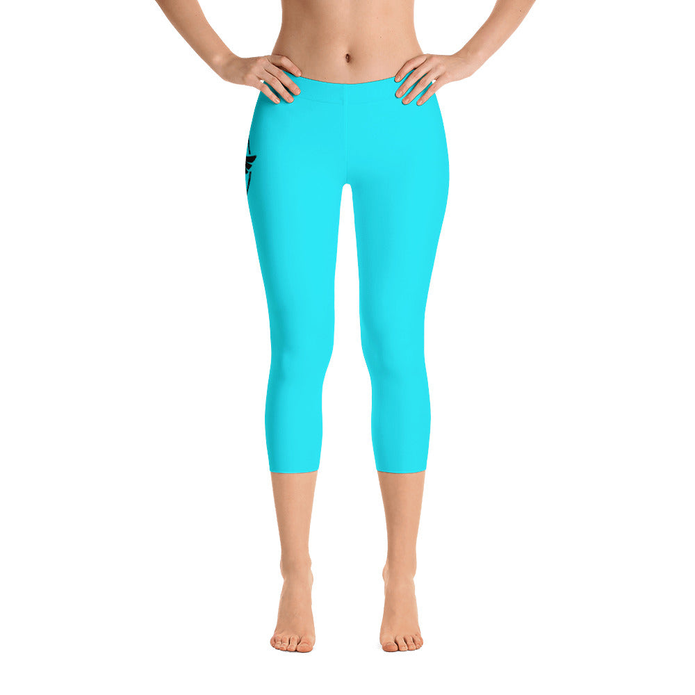 Women's All Day Comfort Capri Leggings Pacific Supply II Sky - Find Your Coast Supply Co.