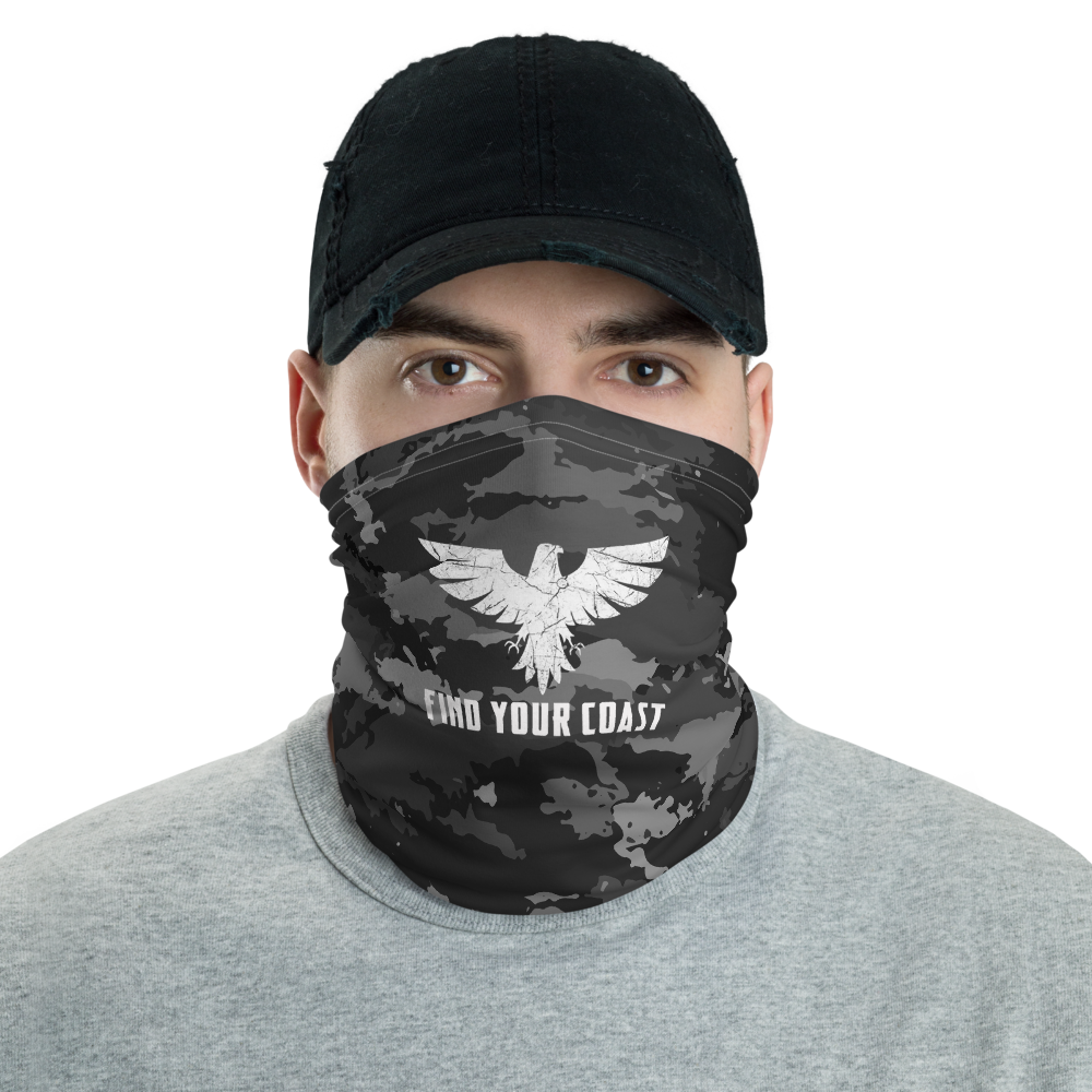FYC Black and White Coast Camo Neck Gaiter