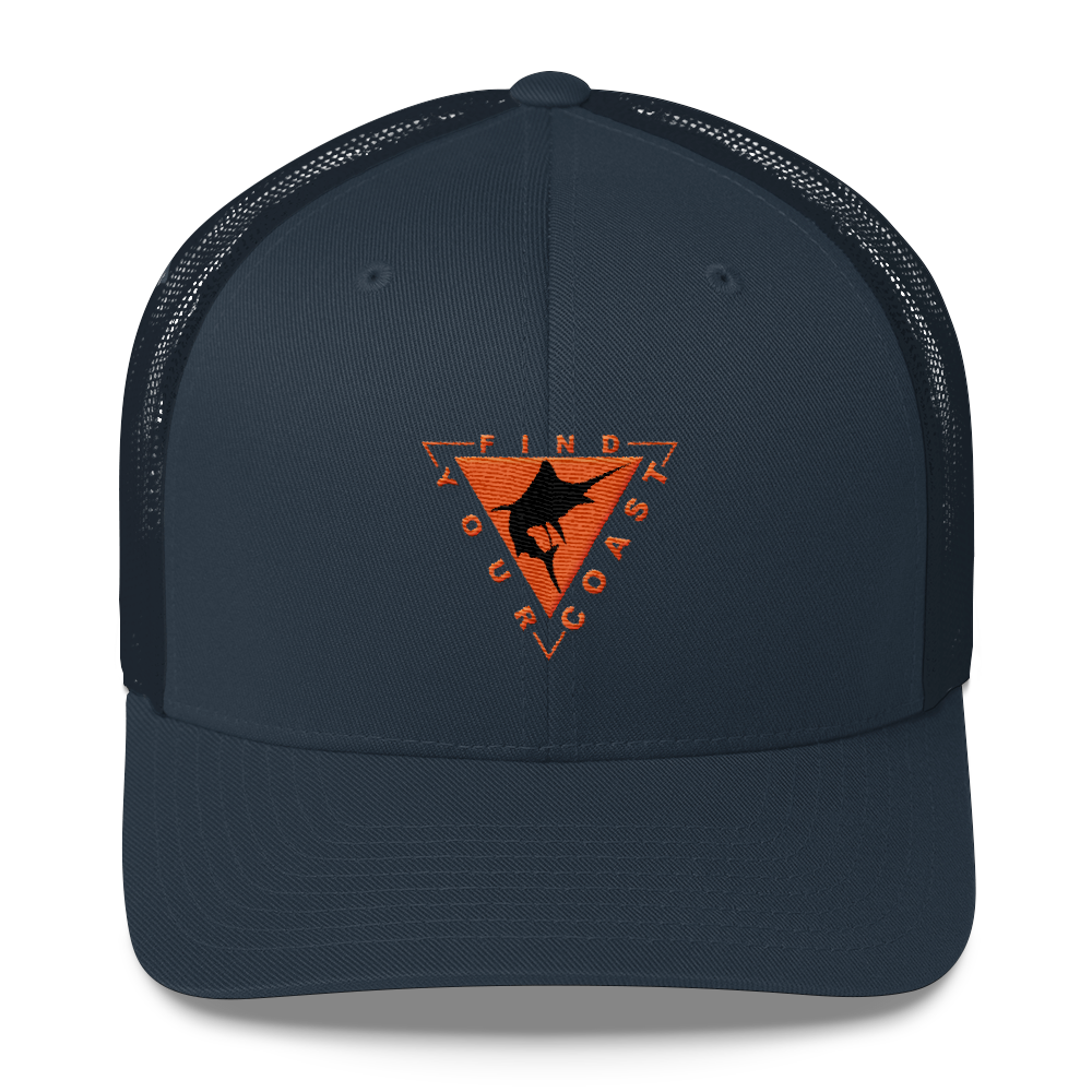 Find Your Coast Marlin Vintage Trucker Hat - Find Your Coast Supply Co.