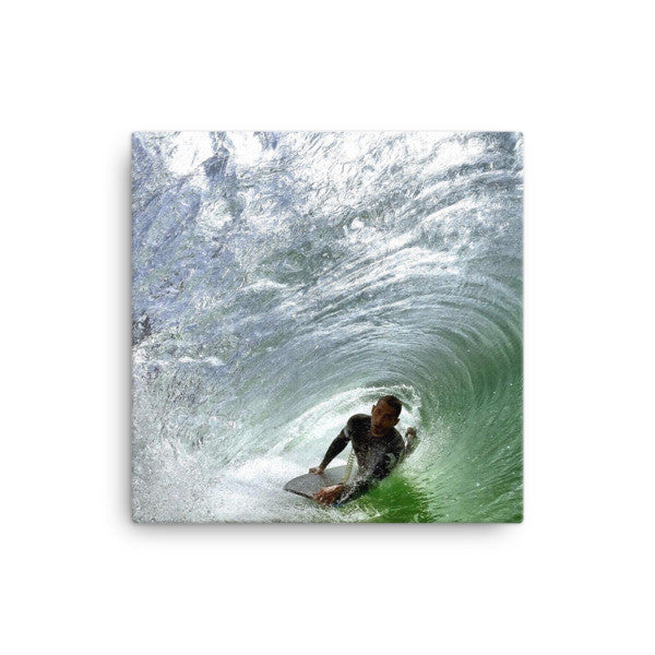 Bodyboard rider on canvas - Find Your Coast Supply Co.