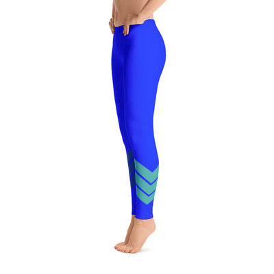 Women's All Day Comfort Royal Venture Pro Stripe Leggings - Find Your Coast Supply Co.