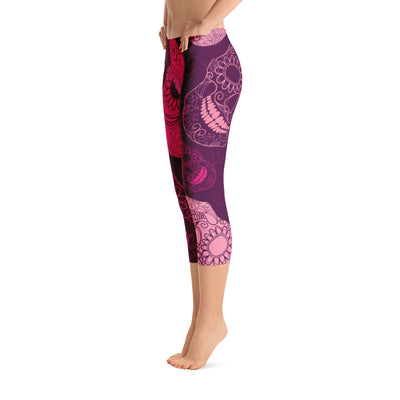 All Day Comfort Skull Candy Capri Leggings - Find Your Coast Supply Co.
