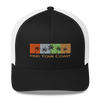 Find Your Coast Palm Season Mid-Profile Trucker Hat - Find Your Coast Supply Co.