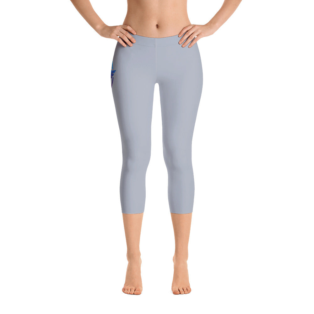 Women's All Day Comfort Capri Leggings Pacific Supply II Grey - Find Your Coast Supply Co.