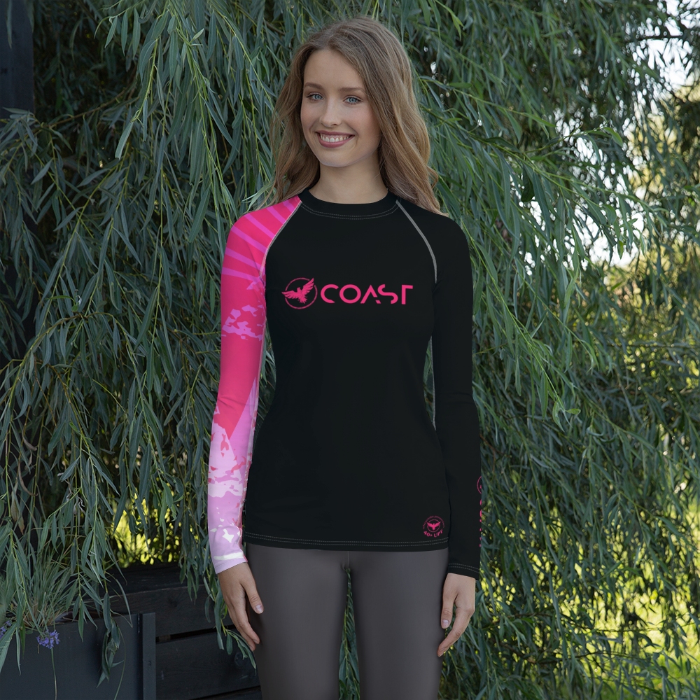 Women's Victory Sleeve Performance Rash Guard UPF 40+ - Find Your Coast Supply Co.