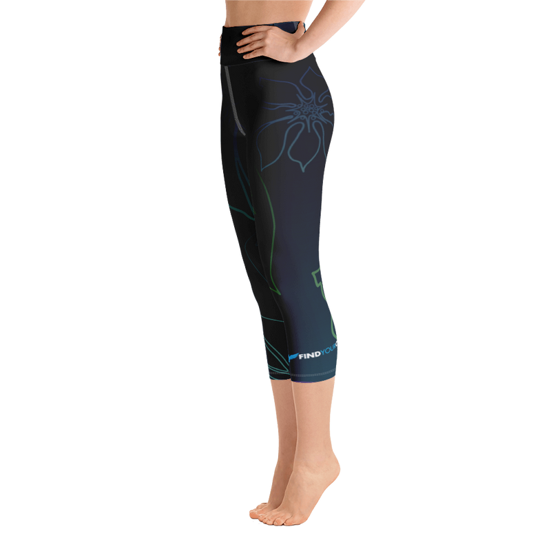 Women's Active Comfort Sport Wild Side Capri Leggings - Find Your Coast Brand