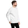 Men's Watercolor Sleeve White Classic Fleece Pullover