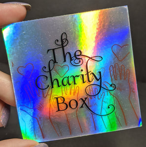 The Charity Box - Holographic Logo Sticker