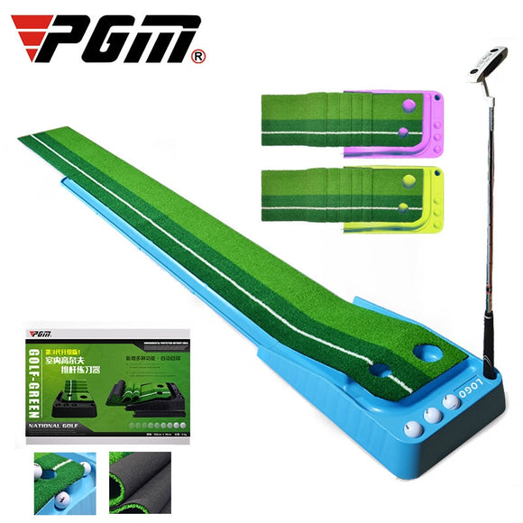 Pgm Mini Golf Clubs Putter Ball Return 2.5M/3M Indoor Golf Putting Green Trainer Portable Golf Practice Putting Mat