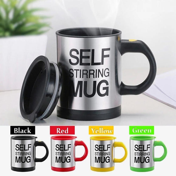 400ml Stainless Steel Lazy Automatic Self Stirring Mug Coffee Milk Mixing Cup Drinkware Kitchen Dining gadgets