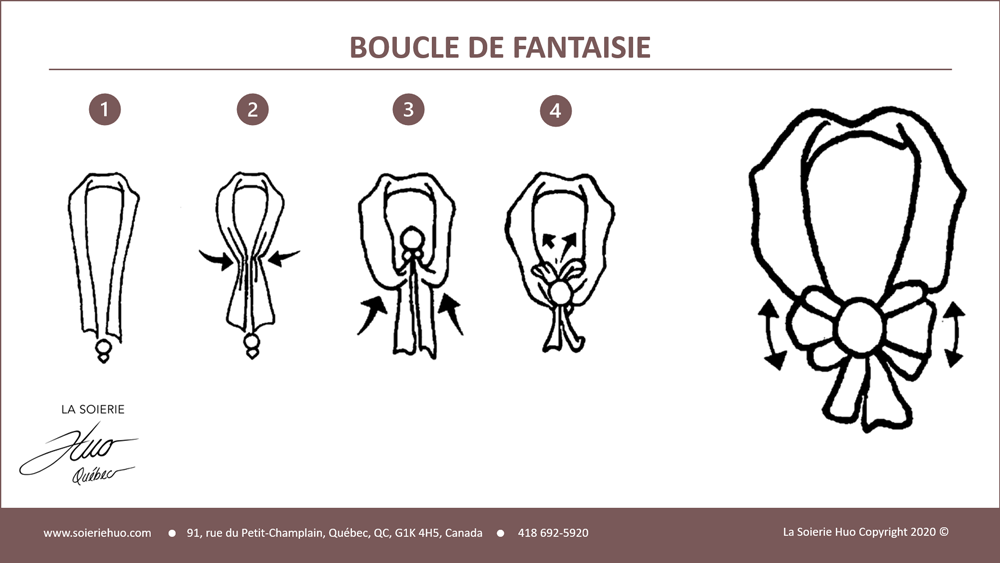 how to wear or knot a fancy buckle scarf