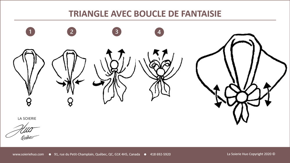 how to wear or tie a Triangle draped scarf with fancy buckle