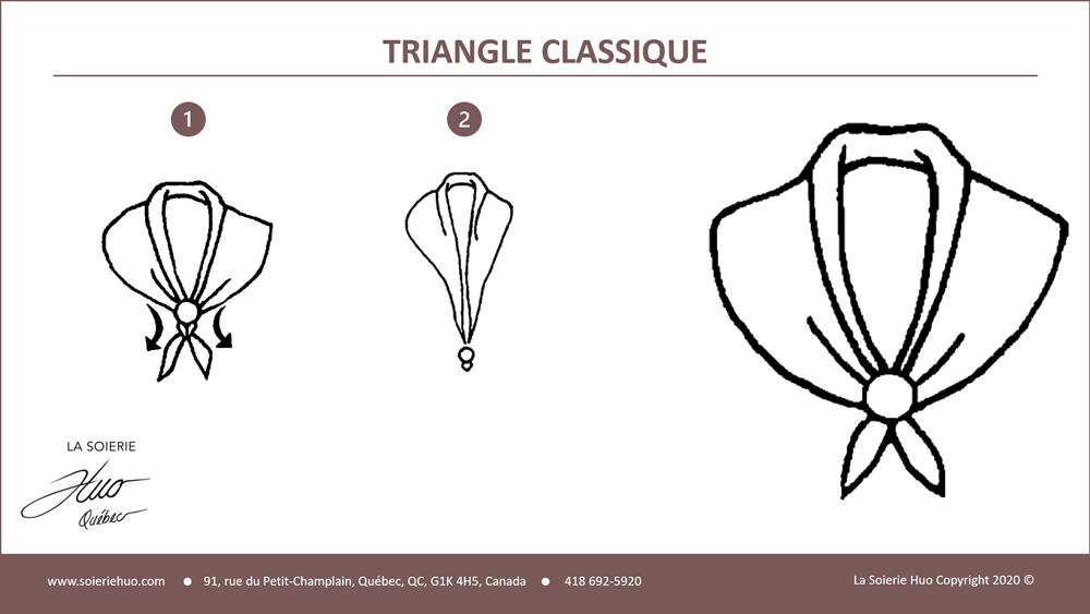 how to wear or tie a Classic Triangle scarf