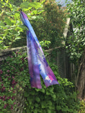 Purple maple silk scarf - Soierie Huo
