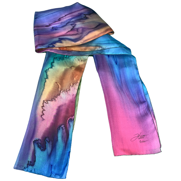 Cold cast silk scarf - Soierie Huo