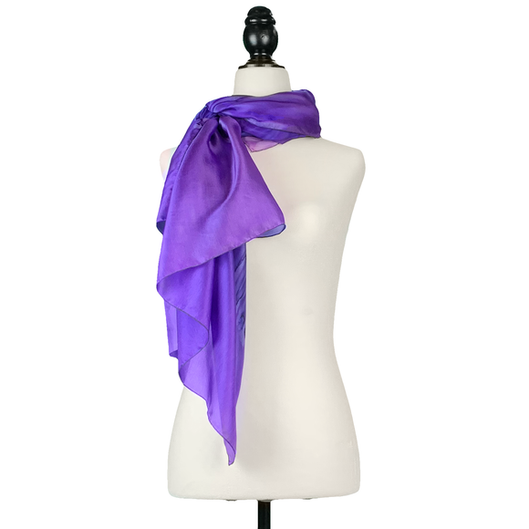 Purple cast silk sarong - Soierie Huo