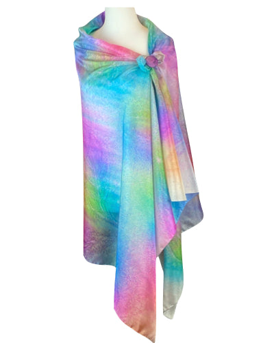Hand-painted silk sarong J'aime les bonbons - Soierie Huo
