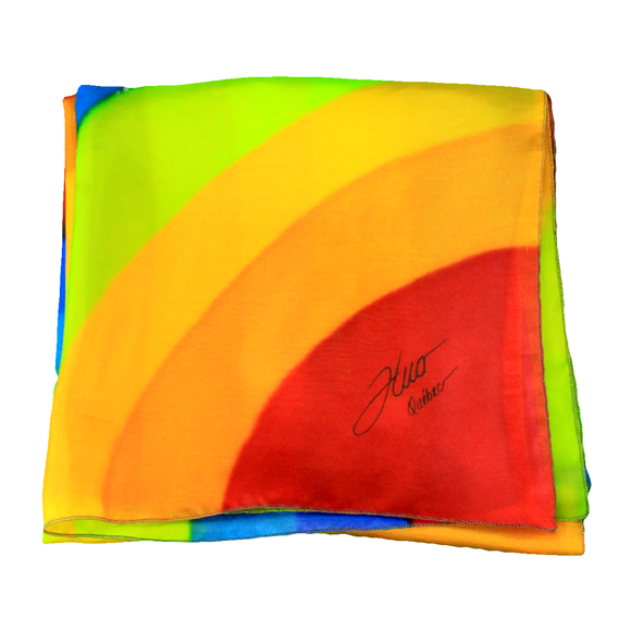 Square rainbow silk scarf - Soierie Huo