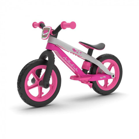 BMXie loopfiets 12 Inch Junior Wit/Roze