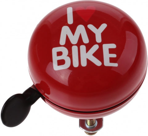 fietsbel I Love my Bike rood 60 mm