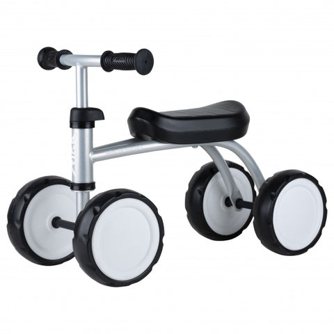loopfiets Mini Rider Go 8 Inch Junior Zilver