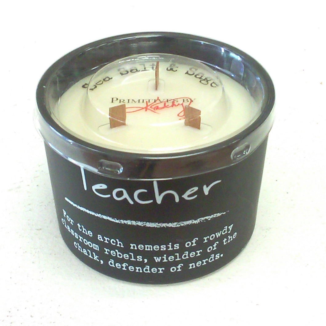 Soy candle, Teacher saying, 20 hr burn time