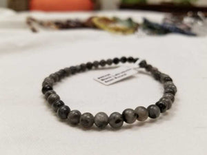 black labradorite bracelet 4mm