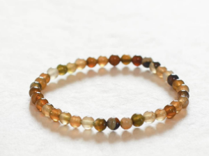 Brown and Red Agate Bracelet, 4mm
