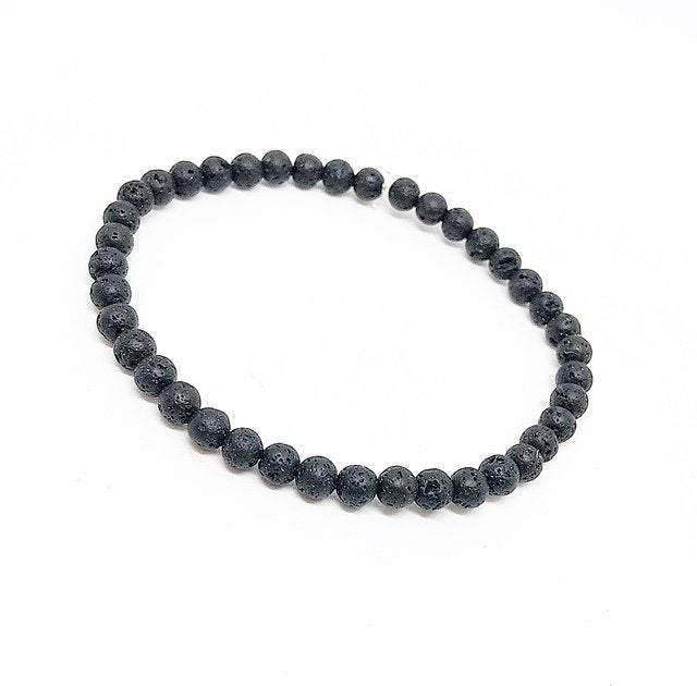 Lava 4mm bead bracelet