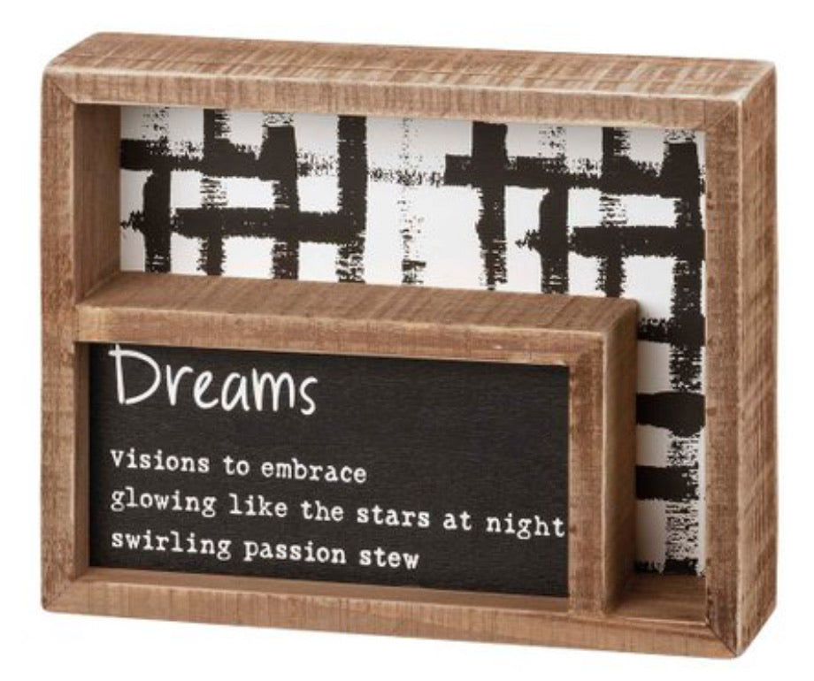 Dreams Box Sign