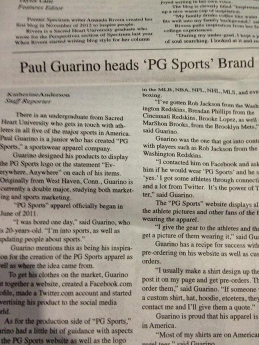 SHU Newspaper x PG Sports