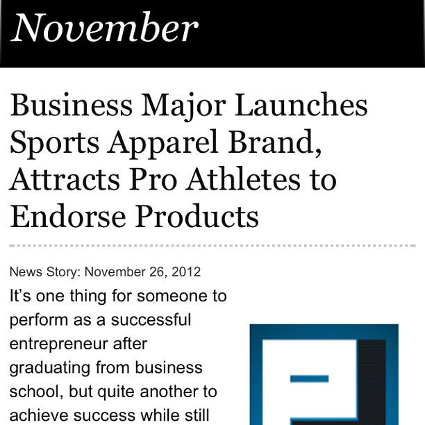 Business Major Launches Sports Apparel Brand, Attracts Pro Athletes to Endorse Products